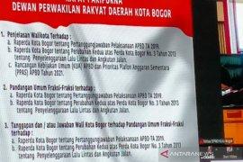 DPRD terima tiga Raperda terkait lalu lintas dan anggaran dari Pemkot Bogor