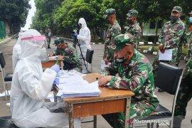 Siswa Secapa TNI AD positif COVID-19 telah berkurang 459 orang