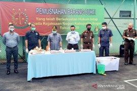 Kejari Kabupaten Bogor musnahkan barang bukti narkoba