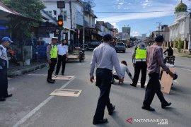 Terapkan protokol kesehatan di jalan, Dishub Abdya modifikasi kotak antrian traffic light