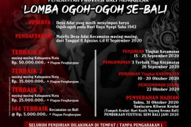 31 Oktober,  Pemprov Bali adakan Festival Ogoh-ogoh berhadiah Rp1,7 miliar