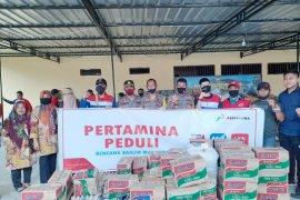 Bantuan Pertamina MOR VII untuk korban banjir bandang Masamba