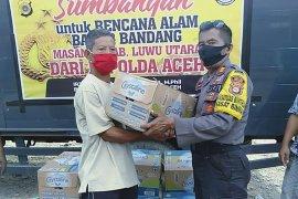 Kapolda Aceh kirim bantuan korban banjir bandang Sulawesi Selatan