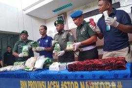 BNN Aceh Tamiang tangkap pengedar narkoba