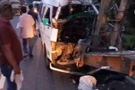 Tabrak bus berhenti, supir Bus KBT tewas ditempat