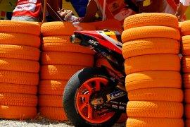 Marquez retak tulang lengan atas  kanan usai kecelakaan di Jerez
