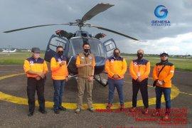 Helikopter patroli  tiba perkuat operasi Satgas Karhutla Jambi, water bombing menyusul