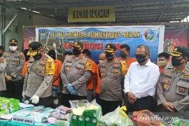 Polrestabes Medan ungkap jaringan baru peredaran narkotika Aceh - Medan - Surabaya