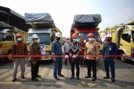 Krakatau Steel lakukan pengiriman perdana produk baru baja ringan di Mojokerto