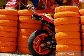 Marc Marquez sambangi paddock MotoGp setelah enam balapan absen