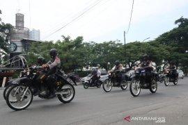Brimob Polda Sumut gelar patroli skala besar di Medan