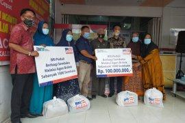 Bupati Asahan salurkan 1000 paket sembako BRI kepada warga