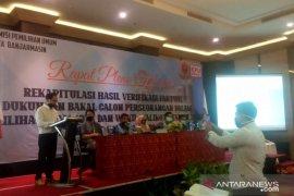 Rapat pleno KPU Banjarmasin: pasangan Khairul-Habib Ali belum memenuhi syarat