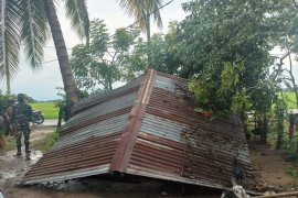 Puting beliung kembali terjang Aceh Timur, tujuh rumah rusak dihantam