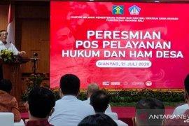 Menkumham: Pos Pelayanan Hukum dan HAM Desa Gianyar-Bali yang pertama di Indonesia