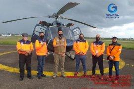 2 helikopter water bommbing bantuan BNPB tiba di Jambi