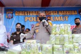 Polda Sumut musnahkan 51,38 kg sabu