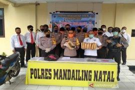 Polres Madina amankan empat tersangka penyalahgunaan narkoba