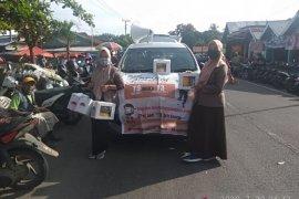 KPU Mukomuko sosialisasi coklit data pemilih di pasar tradisional