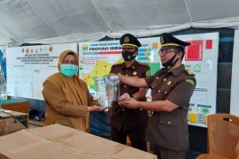"Jaksa di Batanghari bantu 152 ""face shield"" ke Gugus Tugas"