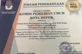 KPU Depok raih tiga penghargaan dari KPU Jabar