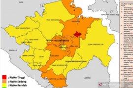 Kota Palembang kembali ke zona merah COVID-19