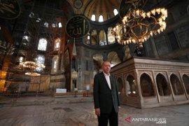 Setelah Hagia Sophia, Presiden Erdogan ubah gereja Chora Turki jadi masjid