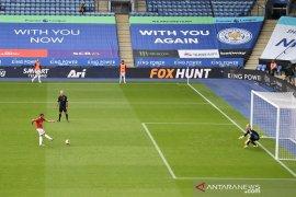 Penalti Bruno Fernandes antar MU atasi Leicester dan lolos ke Liga Champions