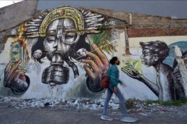 Mural kritik sosial pariwisata Bali