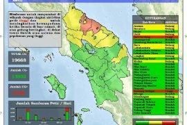 Periode 20-26 Juli terjadi 19.668 petir di Sumut