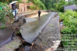 Hujan lebat sebabkan sejumlah titik longsor dan pohon tumbang di Aceh Barat