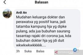 Karena berkomentar di FB, pemilik akun Ardi An dilaporkan IDI dan PPNI Tapin