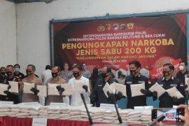 Polisi amankan 200 kg sabu-sabu dari tertangkapnya jaringan mafia narkoba internasional