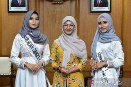 Melati Erzaldi terima kunjungan pemenang Putri Hijab 2020 Asal Babel