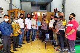 Kapolres Tapanuli Selatan kunjungan mendadak ke Sekretariat PWI Tabagsel