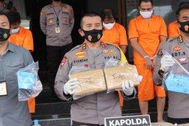 Polda Banten tangkap 9 tersangka penyelundup 159 Kg ganja