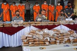 Penyelundupan 159 kg ganja dari Aceh