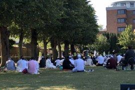 Muslim RI di Inggris Shalat Idul Adha di Colchester Castle Park
