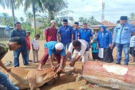 Demokrat Madina serahkan bantuan hewan kurban