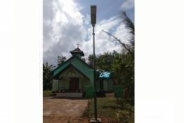 Kini rumah ibadah di Desa Beringin Rayo terlihat lebih baik berkat TMMD