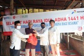Pertamina bagikan daging kurban untuk 500 warga sekitar Kantor Pertamina MOR III