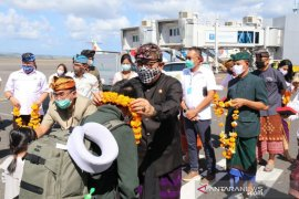 Cok Ace sambut kedatangan wisatawan Nusantara di Bandara I Gusti Ngurah Rai