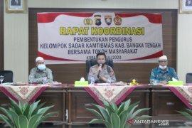 Polres Bangka Tengah ingatkan warga tetap jaga jarak