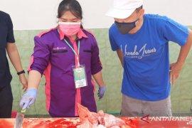 Bangka turunkan tim petugas pemeriksa daging hewan kurban