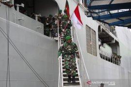 Satgas Pamtas Yonif 713/Satya Tama kembali ke Gorontalo