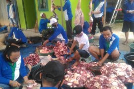 Bank Kalsel dukung panitia pemotongan hewan kurban melalui pembagian kaos seragam