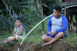 Kerinduan anak-anak Beringin Rayo kepada anggota Satgas TMMD 108