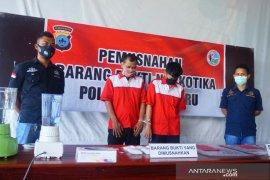 Polres Banjarbaru musnahkan 9 ons sabu-sabu