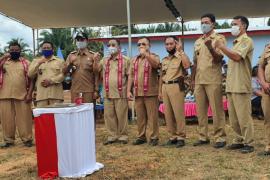 Bupati dan Wakil Bupati Sekadau ikut deklarasi bersama masyarakat Desa Setuntung