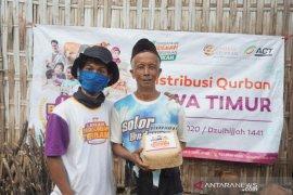 ACT Jember distribusikan 850 paket daging kurban di daerah terpencil
